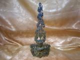 Sfesnic Art Deco Menorah bronz, Israel, colectie, cadou, vintage