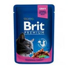 Pliculeț BRIT Premium Cat Chicken & Turkey 100 g
