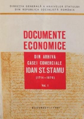 Documente economice din arhiva casei comerciale Ioan St. Stamu 1714-1876 foto