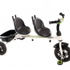 Tricicleta pentru gemeni 2Win Grey