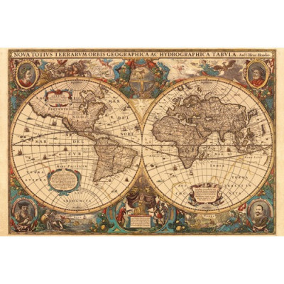 Puzzle Harta Antica A Lumii , 5000 Piese foto