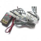 Lampa stroboscopica 4 module x4 LED galben