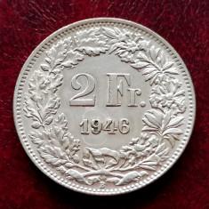 ELVETIA - 2 Franci 1946 B ( Francs - Franken ) Argint stare foarte buna XF-aUNC
