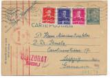 CP267 Carte postala 1941 stampila cenzura Sibiu si vulturul nazist german, Necirculata, Printata
