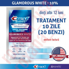 20x Benzi Albirea Dintilor Crest Whitestrips 3D Glamorous White