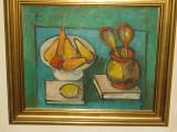 "Tablou  ""Natura statica cu fructe si linguri"" Francisc Baranyai"
