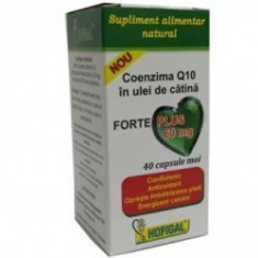 Coenzima Q10 in ulei catina Forte Plus 60 mg 30 capsule - Hofigal