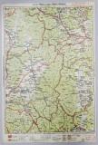 HARTA ZONEI TARGUL OCNA - TARGUL SECUIESC , LITOGRAFIE de M.D. MOLDOVEANU , 1936