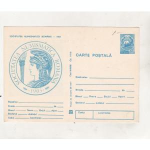 bnk cp Societatea Numismatica Romana - 1903 - necirculata - marca fixa