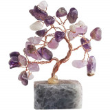 Copacei Feng Shui cu ametist, piatra iubirii si fericirii pentru noroc in dragoste, copac decorativ mov