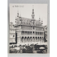 BRUXELLES , MAISON DU ROI , CARTE POSTALA DUBLA , ILUSTRATA , MONOCROMA, NECIRCULATA , DATATA SEPT . 1929
