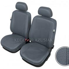Huse scaune auto imitatie piele Citroen C15, set Fata , Culoare Gri