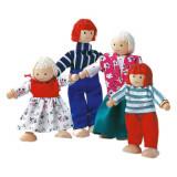 Cumpara ieftin Familie papusi din lemn - 4 personaje - Bino