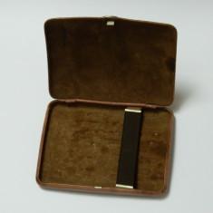 Tabachera interior piele DERESO SELECT / cutie veche tigari