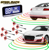 Senzori de parcare fata si spate OEM STEELMATE PTS810EX cu display LCD V10 CarStore Technology