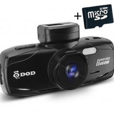 "Camera auto DVR DOD LS460W, Full HD, GPS, senzor Sony, lentile Sharp, WDR, G senzor, 2.7"" LCD, + Card 32GB"