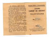 CARNET DE ABONAT TELEVIZIUNE FORMAT MIC TIMBRU FISCAL MIN POS TELECOMUNICATIILOR