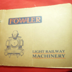 Catalog -Vehicule usoare de Cale Ferata -Firma Fowler Leeds  inc.sec.XX ,64 pag