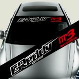 Sticker parasolar auto GREDDY MAZDA (126 x 16cm) ManiaStiker, AutoLux