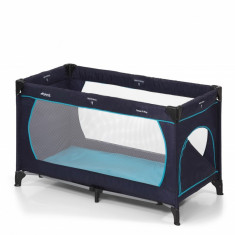 Pat voiaj Dream'n Play Plus, husa lavabila, fermoar, geanta transport, Navy/Aqua