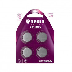 Baterie CR2025 Lithium, 3V, 165mAh , Tesla, Set 4 bucati