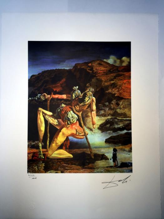 Litografie SALVADOR DALI 50x65cm Bfk Rives