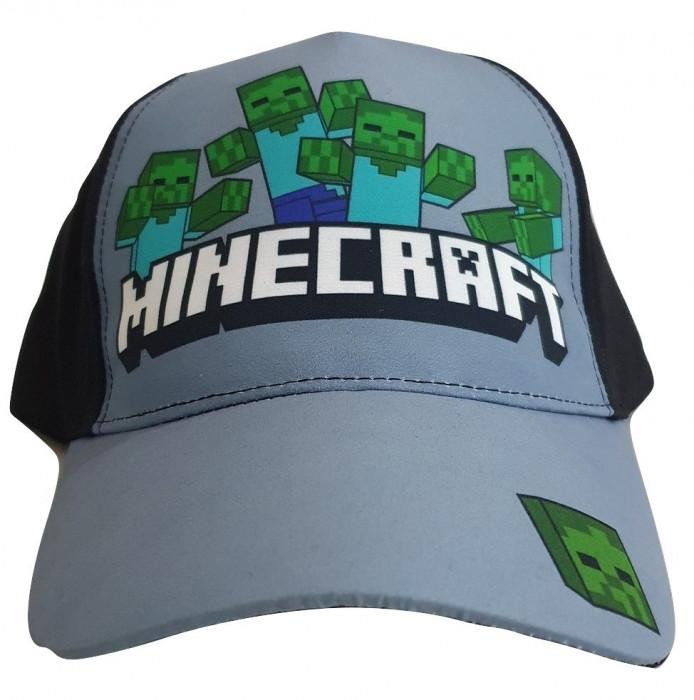 Sapca Minecraft Zombie attack , Ajustabila , ORIGINAL, Mojang, 8 ani +