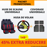 Pachet Promotional Huse Scaune & Husa Volan & Covorase PP6