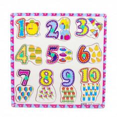 Puzzle din lemn cu cifre - Invata sa numeri BAR220