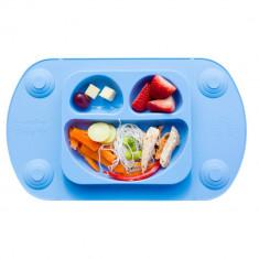 Farfurie autodiversificare portabilă Easymat Mini Albastru