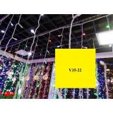 V35-22 INSTALATIE PLOAIE 100 LED 2 M MULTICOLOR
