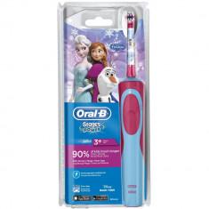 Periuta de dinti electrica Oral-B Frozen pentru copii, reincarcabila, curatare 2D, 1 program, 1 capat, Roz/Albastru