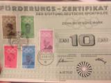 Certificat 10 Marci, cu timbre 1968