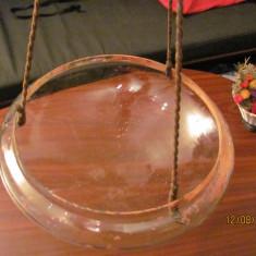 CY - Sticla veche uriasa pentru lampa de tavan / poate jardiniera stare perfecta