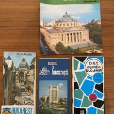 Ghiduri de calatorie turistice vechi harta Bucuresti Romania ONT