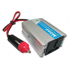 Invertor tensiune 12v-220v, putere 200 w