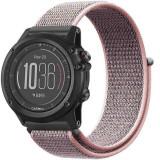 Curea ceas Smartwatch Garmin Fenix 5, 22 mm iUni Soft Nylon Sport, Soft Pink