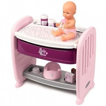 Patut Copii Co-Sleeper pentru papusi Smoby Baby Nurse 2 in 1 foto