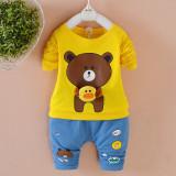 Trening bebelusi cu bluza galbena - Teddy (Marime Disponibila: 2 ani)