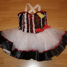 costum carnaval serbare rochie dans balet pentru copii de 4-5-6 ani