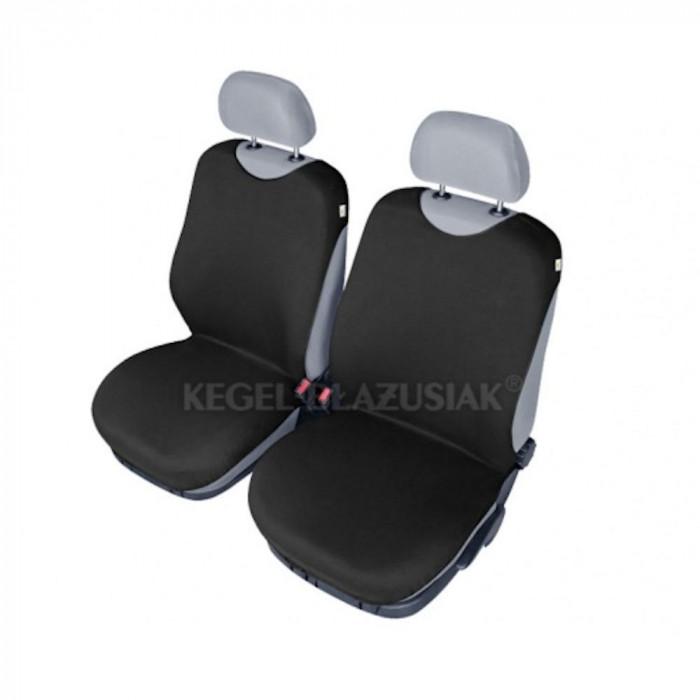 Set huse scaune fata tip maieu pentru Skoda Octavia, culoare Negru, 2 bucati