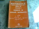 ELEMENTE DE ANALIZA MATEMATICA CLASA A XII-A M1 - MIRCEA GANGA