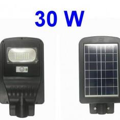 Lampa stradala proiector stradal cu panou solar 30w senzor miscare si lumina