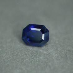 SAFIR NATURAL ALBASTRU Royal Blue 0,74 ct. certificat autenticitate-NEINCALZIT