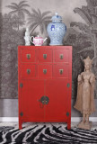 Consola exotica din lemn masiv rosu MAY003