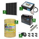 Pachet Gard electric 8,5J putere cu Panou Solar si 1000m de fir 160Kg