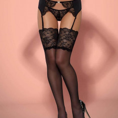 Ciorapi Sexy Cu Dantela Charmea, Negru, S/M