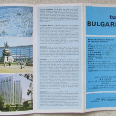 Turul Bulagariei.Pliant turistic.