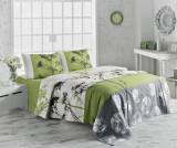 Cuvertura Pique Belezza Green 155x200 cm - Victoria, Verde,Multicolor