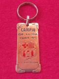 Breloc metalic fotbal (vechi) - FC BARCELONA (campioana sezonul 1984 / 1985)